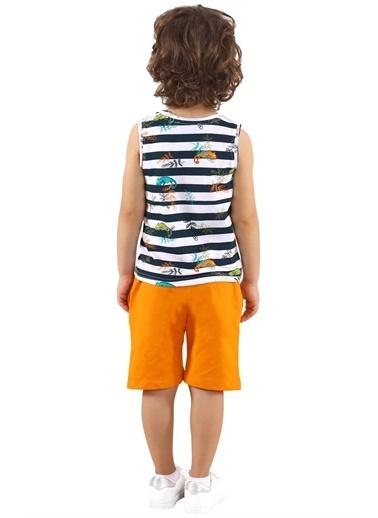 Silversun Kids Erkek Çocuk Baskılı Çizgili Kolsuz Tişört Bk 218628 Renkli